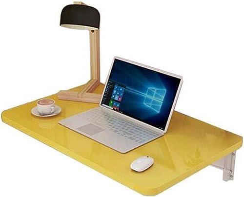 Table Pliante YH Bureau D'ordinateur Note Murale Table à Manger Table Murale A+ (Couleur   Le Jaune, Taille   80  50)