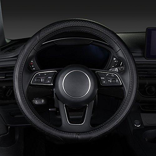XU-Auto Couverture de Volant de Voiture Universel 38cm, Protecteur Respirable de Douille de Roue antidérapante