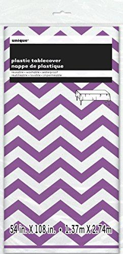 Unique Party - 50375 - Nappe - Plastique - Motif Chevron - 2,74 x 1,37 m - Violet