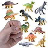 Prextex 12 Mini Dinosaur Figures for Cake Toppers Easter Eggs Filler and Party Favors