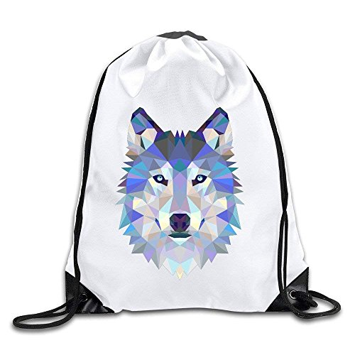 Etryrt Turnbeutel/Bedruckte Sportbeutel, Premium Drawstring Gym Bag Rucksack, Triangle Wolf Drawstring Backpack Bag