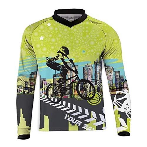 Jersey VTT Jersey à Manches Longues Femmes T-Shirt Mountain Bike Riding Equipment Jersey Ropa VTT (Color : P, Taille : 5XL)