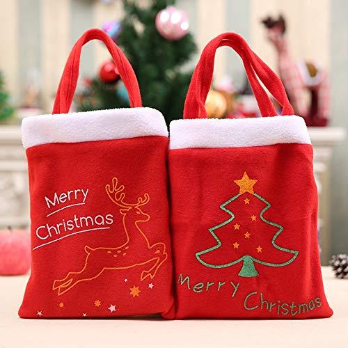 YOUZHIXUAN Candy Bag 2 PCS Bolsa portátil Decoración de Navidad Bolsa de Regalo, Estilo de Entrega al Azar, Tamaño: 38 * 21 cm