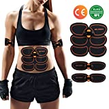 YUCHEEN Electroestimulador Abdominales,Entrenador Portátil Masajeador Eléctrico Cinturón,EMS Estimulador Muscular Abdominales/Brazo/Pierna/Cintura para Hombre o Mujer