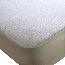 Trance Home Linen Economy Waterproof Mattress Protector (White; 78 x 72 inch)
