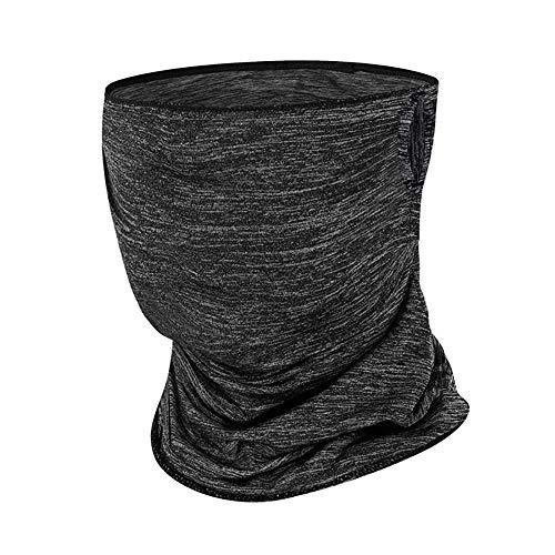 ENticerowts - Bufanda antisol transpirable para protección de la cara, protección del cuello, polainas para playa, jardín, camping, pesca, pícnic, productos al aire libre multifuncionales, color gris, tamaño Hang Ear