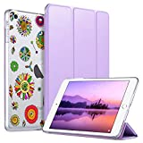 ULAK iPad Mini 3 Case,iPad Mini 2 Case,iPad Mini Case, Slim Bumper Smart Case Stand for Apple iPad Mini 1/2/3 Colorful Clear Back Cover Lightweight with Auto Sleep/Wake Function, Pinwheels