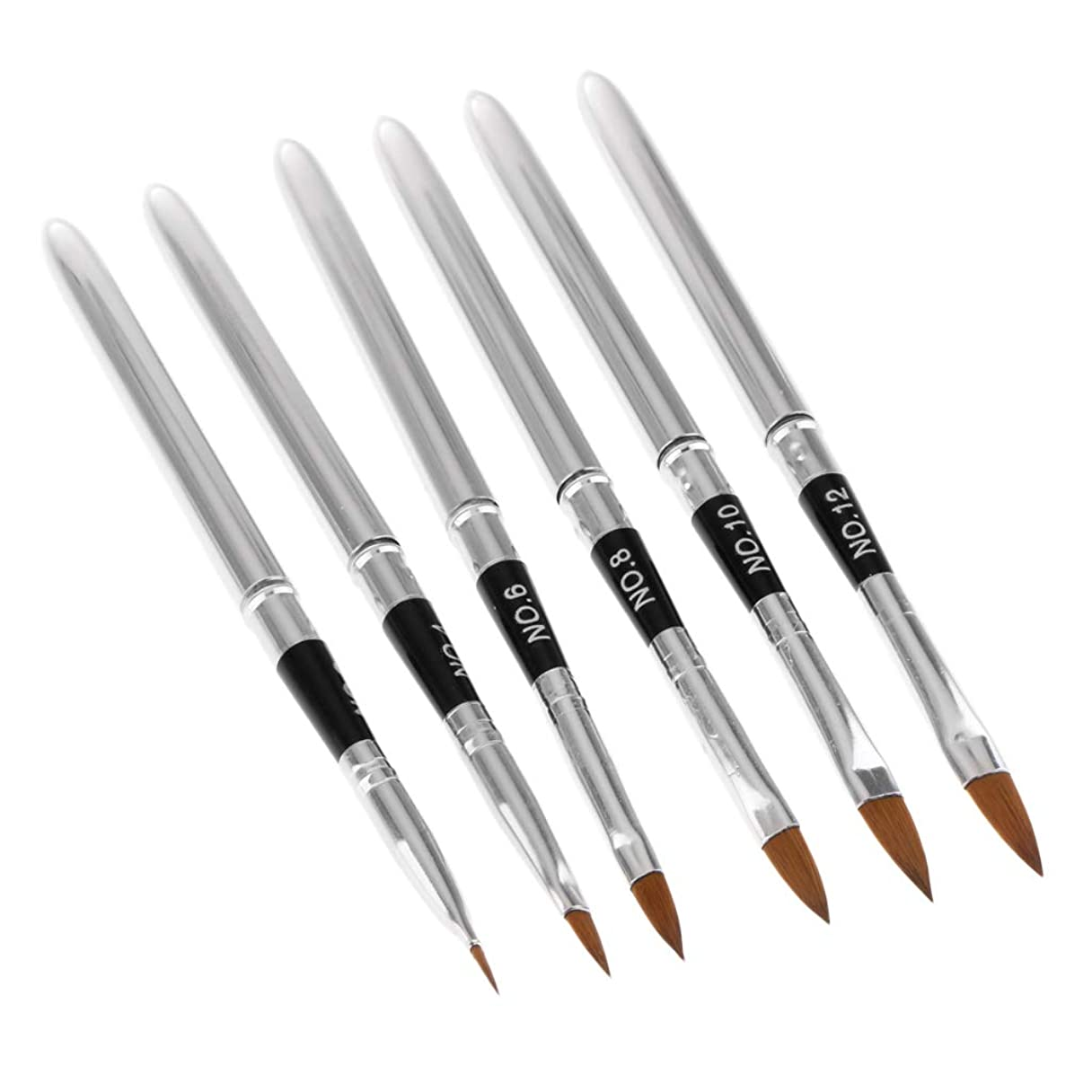 ウール十年姓T TOOYFUL 6本セット ネイルアートペン ネイルブラシ ペンブラシ 人魚の尾 スティック 3D 絵画ペン