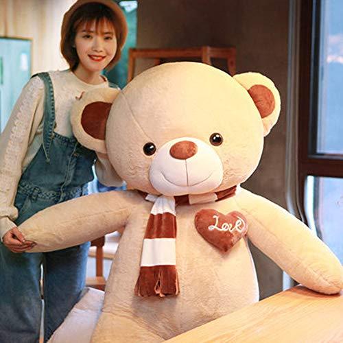 Riesen Teddybär | Teddy Kuscheltier Stofftier Plüschbär Plüschtier Teddi Valentins Geschenk für Freundin Kinder, I,2m