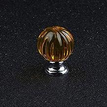 Bureze 2018 Luxe Kristal Glas 30mm Zwart Pompoen Lade Kast knop Meubeldeur Handvat Enkele Gat DIY Eenvoudige Installatie