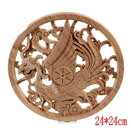 Dongyang Woodcarving Flower Carved Wood Applique China Furniture Decorative Gate Bed Crown Cabinet Vintage Home Decor C2