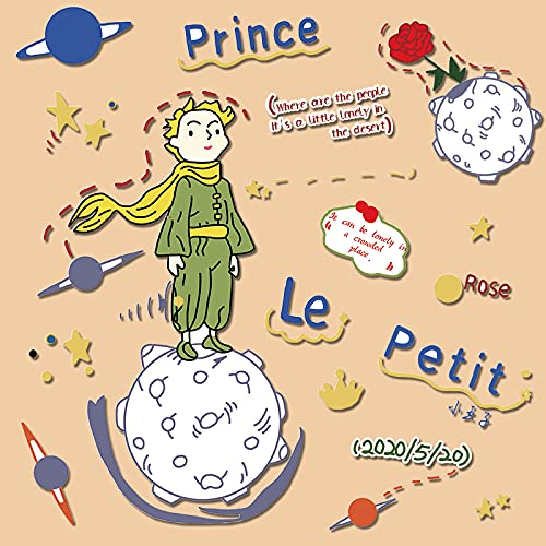 BUCUO Pegatinas de Dibujos Animados Lindo Principito Maleta Funda para teléfono portátil Tableta Casco Pegatinas Impermeables