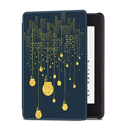 MoHHoM Kindle Cover,Hülle Für Kindle Paperwhite 10. Generation 2018, Leichte Magnetische Schutzhülle Mit Auto Sleep/Wake, City Lights
