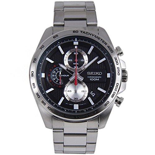 Seiko Herren Chronograph Quarz Uhr mit Edelstahl Armband SSB255P1