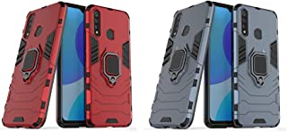 Vivo Y19 Iron Man Protective Cover With Kickstand Ring Blue Cover + 1 Red Cover