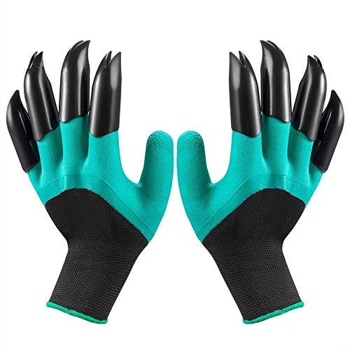 Garden Genie Handschuhe Krallen Wasserdicht Atmungsaktiv Gartenhandschuhe zum Graben Bepflanzen, Beste Gartenarbeit Geschenke für Frauen und Männer (1 Paar)
