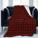 Scottish Tartan with Traditional Colors Vintage Style Fleece Throw Blanket Ultra Soft Plush All Season Lightweight Decor Blanket for Bed Sofa, 50'x60'
