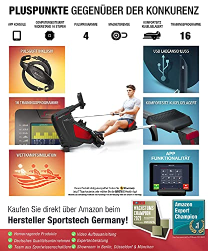 Sportstech RSX500 Rudergerät - 4