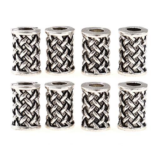 Mcree Viking Beard Dreadlocks Beads Viking Runes Alphabet Runes Bracelet Findings Viking Jewellery (8 Pcs)