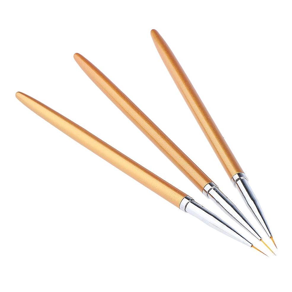 入植者旅行見えるPerfeclan ネイルアートペン ネイルブラシセット ネイルアートブラシ 絵画ペン 3本入り