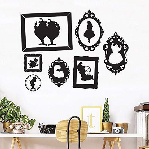 Pegatinas de pared Arte de personajes de cuento de hadas Pegatinas de vinilo Dormitorio de los niños Decoración del hogar