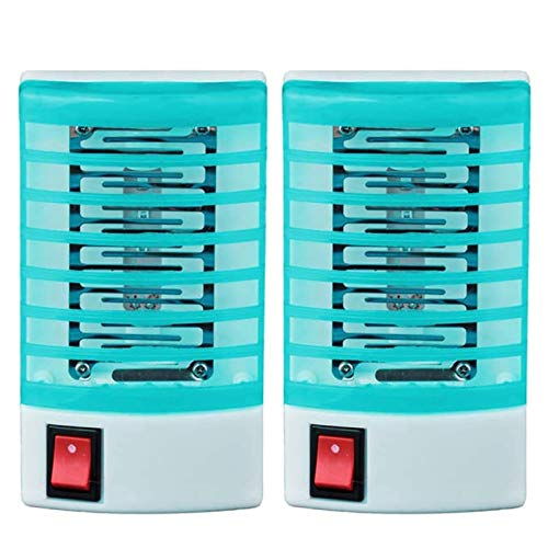 LanFun Lampe Anti Moustique, Electrique UV LED Tue Mouche Tueur de Moustique Intérieur Pièges à Mouche, Destructeur d' Insectes Electrique pour Chambre, Maison, Cuisine, Bureau (2 Pack)