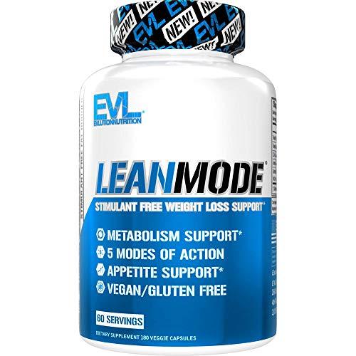 Evlution Nutrition Lean Mode - Stimulant-Free Fat Burner, Metabolism...