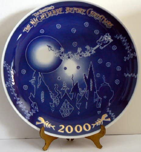 Nightmare Before Cheap Long-awaited mail order shopping Christmas ~ Year PLATE 2000