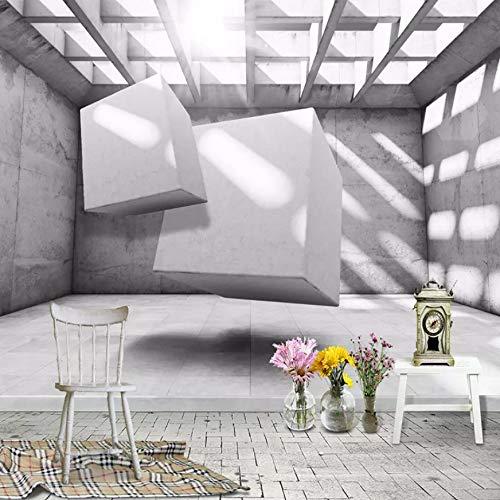 VVNASD 3D Dekorationen Aufkleber Tapete Wandbilder Wand Modernes Raum Zusammenfassungs Geometrisches Gitter Wohnzimmer Schlafzimmer Kunst Kinder Zimmer (W) 200X(H) 140Cm