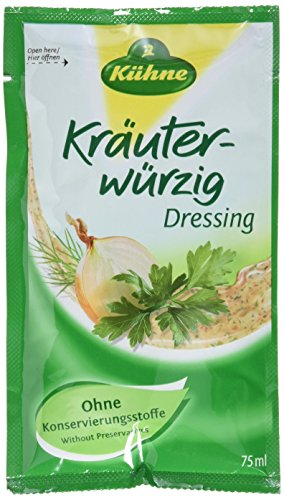 Kühne Kräuter-würzig Salat Dressing  für unterwegs, 15er Pack (15 x 75 ml)