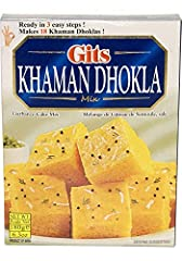 1 Pack of Gits Khaman Dhokla Mix Net Wt. 6.3oz (180g) Gerbanzo Cake Mix Makes 18 cakes of 0.20g approx.