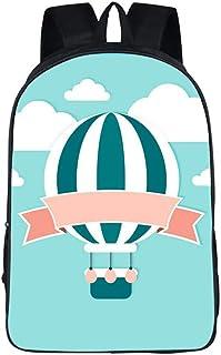 Unisex Hot Air Balloon Cosplay Anime Mochila Escolar Estudiantes Mochila para Portátil Backpack Bolsa Casual Bandolera