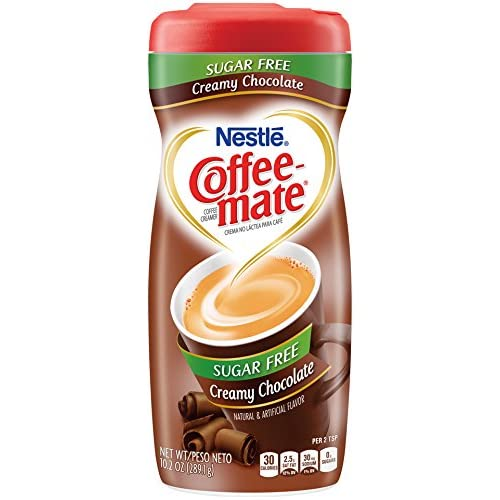 Nestle Coffee-Mate Coffee Creamer Sugar Free Creamy Chocolate, Pack of 1 (10.2