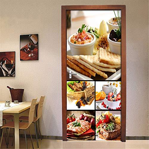 MACHINE BOY door sticker DIY Living Room Bedroom Home Decor Gourmet mosaic poster Size 77 * 200cm