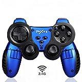 Alta Precisión Posicionamiento 2.4G Controlador Inalámbrico Dual Vibración Ergonómico Ondulada Manija PS3 Controlador de Juego E-Sports Joystick Apoyo Turbo Función Antideslizante PC Gamepad