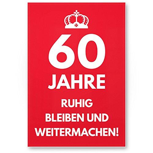 Bedankt! 60 jaar, rustig blijvend - cadeau 60e verjaardag, cadeau-idee verjaardagscadeau zestigste, verjaardagsdeco/feestdecoratie/feestaccessoires/verjaardagskaart