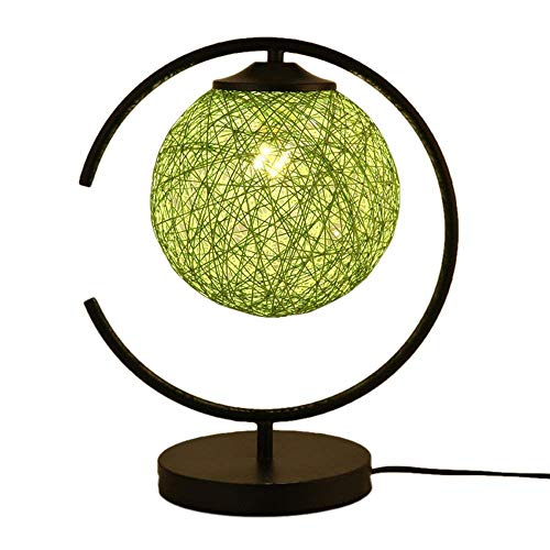 Yilingqi-1 Moderne smeedijzeren tafellamp handgemaakte rotan tafeltennis-leestafel lamp 's nachts studeerenden kamerdecoratie tafellamp, E27