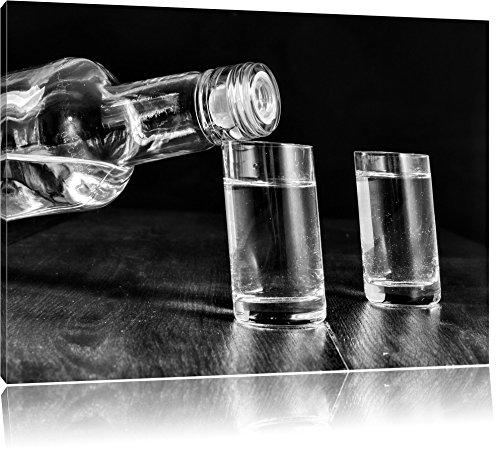 Pixxprint Vodka Whisky Party als Leinwandbild | Größe: 120x80 cm | Wandbild| Kunstdruck | fertig bespannt