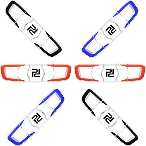 6 Amortiguador de Vibración de Tenis Amortiguador de Raqueta de Tenis Amortiguador de Raqueta de Silicona Suave Amortiguador Largo de Tenis Accesorios de Racquetball para Tenista Favor de Deporte