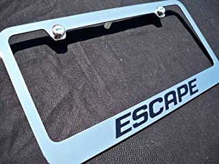 Ford Escape Chrome Metal License Plate Frame with Caps
