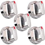 Wadoy NX58f5500SS Knob Compatible with Samsung Stove Knobs NX58F5700WS NX58H5600SS NX58H5650WS ( 5Pcs) Oven Range Gas Dial Stove Knobs DG64-00472A / DG64-00347A