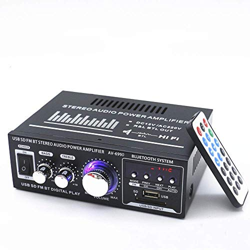 Docooler 12V/220V Mini Pantalla LCD 2CH HiFi