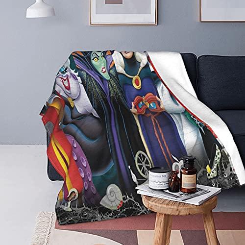 Manta de forro polar de franela de Disney Characters, de doble cara, ligera, acogedora manta de felpa para días fríos y habitaciones de aire acondicionado en verano