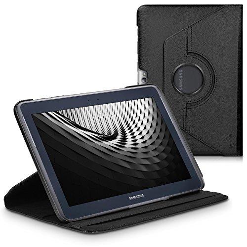 kwmobile Hülle kompatibel mit Samsung Galaxy Note 10.1 N8000 / N8010-360° Tablet Schutzhülle Cover Case Schwarz