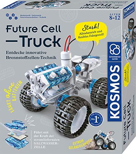 KOSMOS 620745 Future Cell-Truck, Entdecke innovative Brennstoffzellen-Technik. Bausatz für Spielzeug-Geländewagen mit emissionsfreier Energie, Experimentierkasten für Kinder ab 8-12 Jahre, Fahrzeug