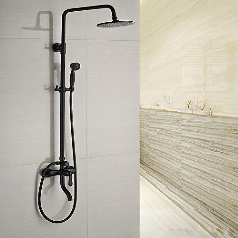 Luxurious shower Luxurises Badezimmer Dusche Set Wall Mount 8  Regendusche Mischbatterien Schwenken Whirlpool Ausgieer mit Handbrause, Stil 1.