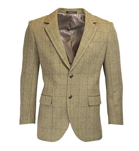 Herren Country-Blazer - Klassische Jacke aus Windsor-Tweed - Gr��e 54