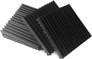 MElnN Anti Vibration Choque Almohadilla, Goma Vibración Aislante Tapete, Noise Reducción Antideslizante Esterilla para Aire Acondicionado (1PC) - como Imagen Show, 50 x 100 x 15mm