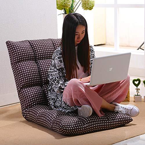 D&W Acolchado Sillón Perezoso,Plegado japonés Sillón reclinable Acolchado Ajustable 5 Posiciones multiangle Cojín sillón reclinable -H 130x60x13cm(51x24x5inch)