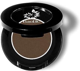 BaeBlu Eyebrow Powder, Organic Vegan 100% Natural, Fill-in Smudge Proof Brow Tint, Made in USA, Deep Brown